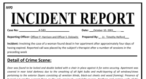 Incident Report clip